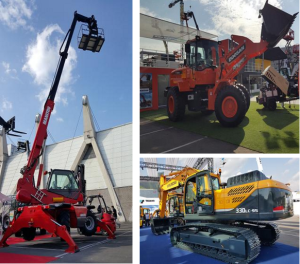 Doosan, Manitou, Volvo, machines, conexpo, equipment, equippo